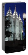 Salt Lake Mormon Temple At Night Portable Battery Charger