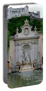 Salzburg Castle With Fountain Portable Battery Charger by Carol Groenen