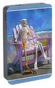 Sam Enjoys The Beach -- Again Portable Battery Charger