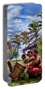 Samoan Torch Bearer Portable Battery Charger by David Smith