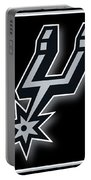 San Antonio Spurs Portable Battery Charger by Tony Rubino
