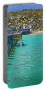 San Clemente Pier Portable Battery Charger by Joan Carroll