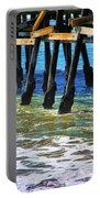 San Clemente Pier Portable Battery Charger by Mariola Bitner