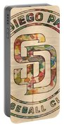 San Diego Padres Logo Art Portable Battery Charger