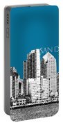 San Diego Skyline 1 - Steel Portable Battery Charger