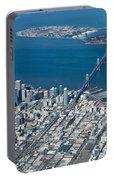 San Francisco Bay Bridge Aerial Photograph Portable Battery Charger