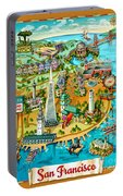 San Francisco Illustrated Map Portable Battery Charger