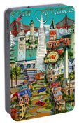 San Francisco Illustration Portable Battery Charger