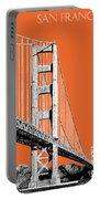 San Francisco Skyline Golden Gate Bridge 2 - Coral Portable Battery Charger