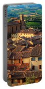 San Gimignano From Above Portable Battery Charger by Inge Johnsson