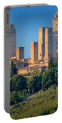 San Gimignano Skyline Portable Battery Charger by Inge Johnsson