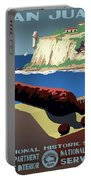 San Juan National Historic Site Vintage Poster Portable Battery Charger