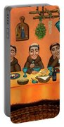 San Pascuals Table Portable Battery Charger by Victoria De Almeida