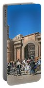 Sanaa Old Town Busy Street In Yemen Portable Battery Charger