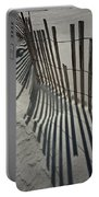 Sand Fence During Winter On The Beach Portable Battery Charger
