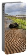 Sand Patterns On Robin Hoods Bay Beach Portable Battery Charger