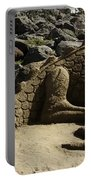 Sand Sculpture Dragon With Flaming Nostrils Portable Battery Charger
