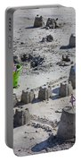 Sandcastle Squatters Portable Battery Charger by Betsy Knapp