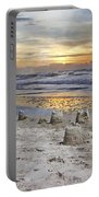 Sandcastle Sunrise Portable Battery Charger by Betsy Knapp