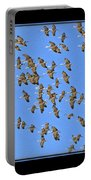 Sandhill Cranes In Mass Portable Battery Charger