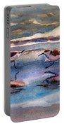 Sandpipers Running In Beach Shade 3-10-15 Portable Battery Charger