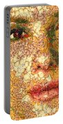 Sandra Bullock In The Way Of Arcimboldo Portable Battery Charger
