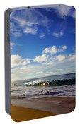 Sandy Beach Morning Rainbow Portable Battery Charger