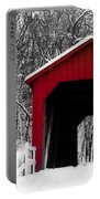 Sandy Creek Cover Bridge With A Touch Of Red Portable Battery Charger