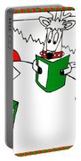 Santa And Reindeer Conference Portable Battery Charger