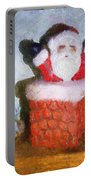 Santa Ho Ho Ho Photo Art Portable Battery Charger