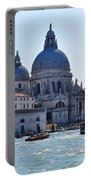 Santa Maria Della Salute Surrounded By Sparkling Waters Portable Battery Charger