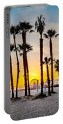 Santa Monica Palms Portable Battery Charger by Az Jackson