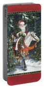 Santa Of The Northern Forest Portable Battery Charger