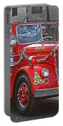 Santa On Fire Truck Portable Battery Charger