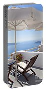 Santorini Balcony  Portable Battery Charger