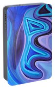 Sapphire Passion - Luminescent Light Portable Battery Charger by Daina White