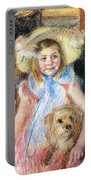 Sara And Her Dog Portable Battery Charger