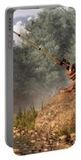 Sasquatch Goes Fishing Portable Battery Charger