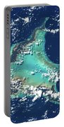 Satellite View Of Turks And Caicos Portable Battery Charger