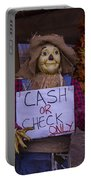 Scarecrow Holding Sign Portable Battery Charger