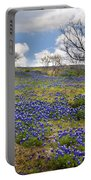 Scattered Bluebonnets Portable Battery Charger