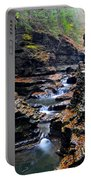 Scenic Cascade Portable Battery Charger by Frozen in Time Fine Art Photography