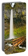 Scenic Elowah Falls In The Columbia River Gorge In Oregon Portable Battery Charger