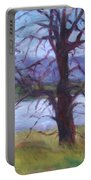 Scenic Landscape Painting Through Tree - Spring Has Sprung - Color Fields - Original Fine Art Portable Battery Charger