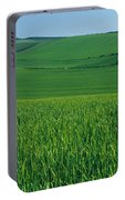 Scenic View Of A Field, South Downs Portable Battery Charger