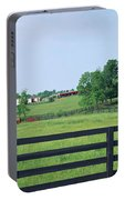 Scenic View Of Horse Farm, Woodford Portable Battery Charger