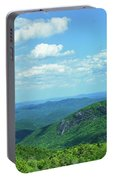 Scenic View Of Mountain Range, Blue Portable Battery Charger