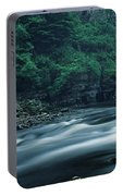 Scenic View Of Waterfall, Teesdale Portable Battery Charger