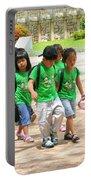 School Children In Gyeongju Korea Portable Battery Charger
