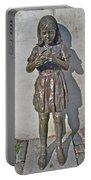 School Girl Sculpture In Saint John's-nl Portable Battery Charger